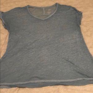 See-through quarter sleeve top